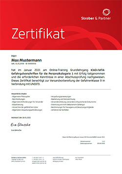 IATA Zertifikat Gefahrgut-Kurs